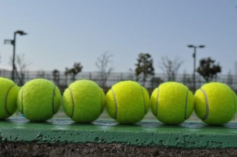 テニス知識のない親子がテニスを頑張っています。