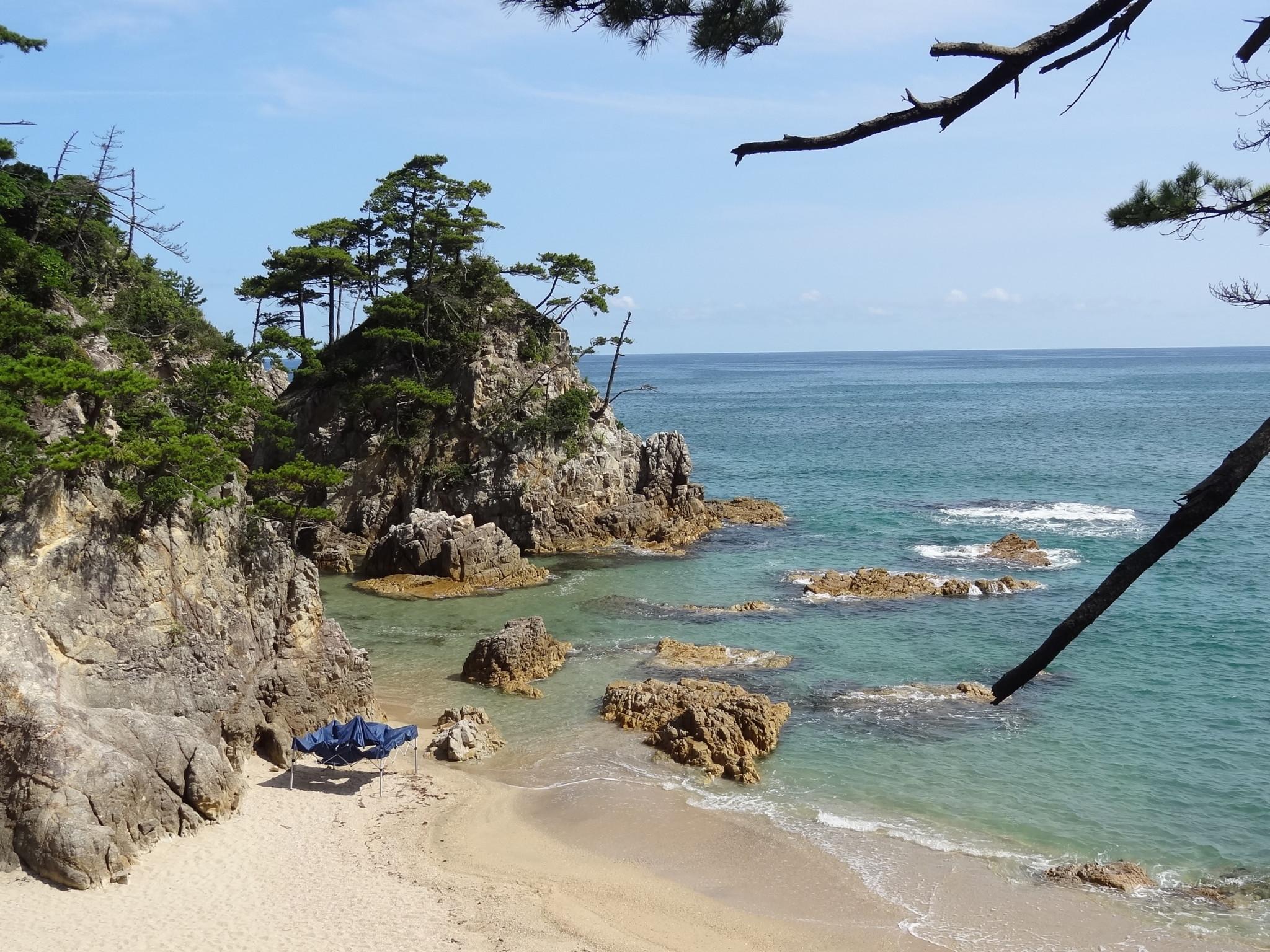 鳥取県の陸上海岸(くがみかいがん)