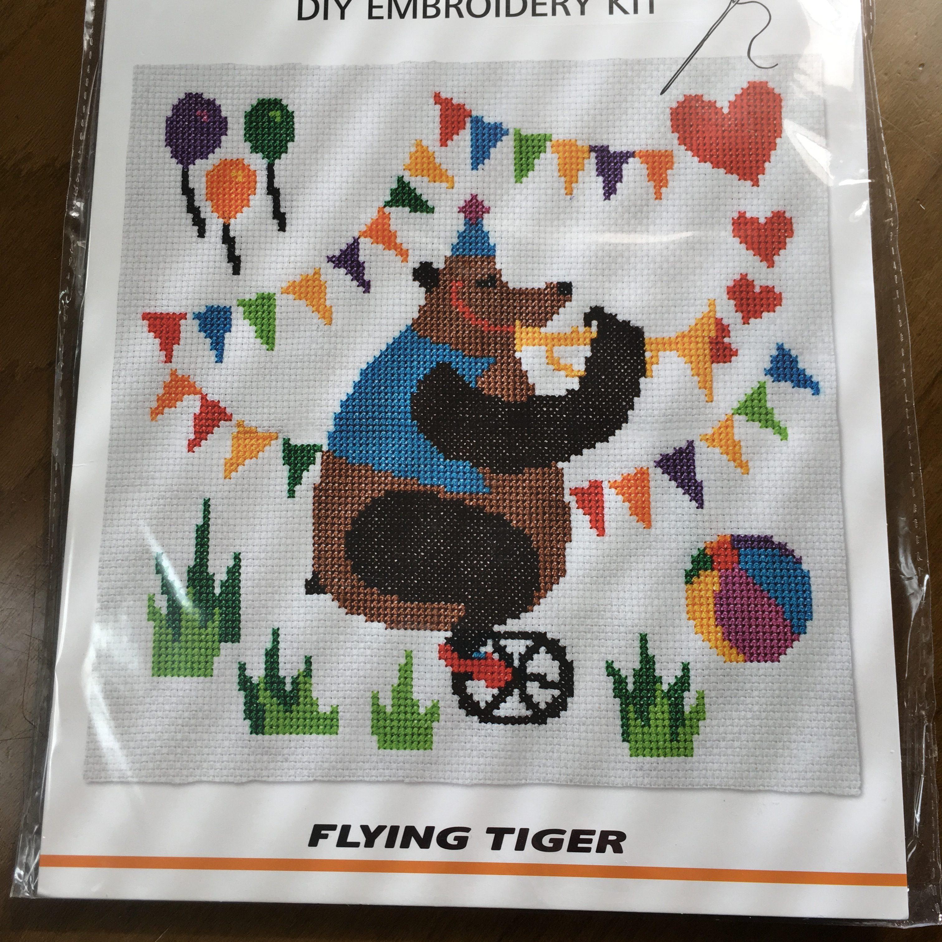 FLYING TIGER(フライングタイガー)のクロスステッチキットは安いけどどんな感じなのか刺繍してみました。