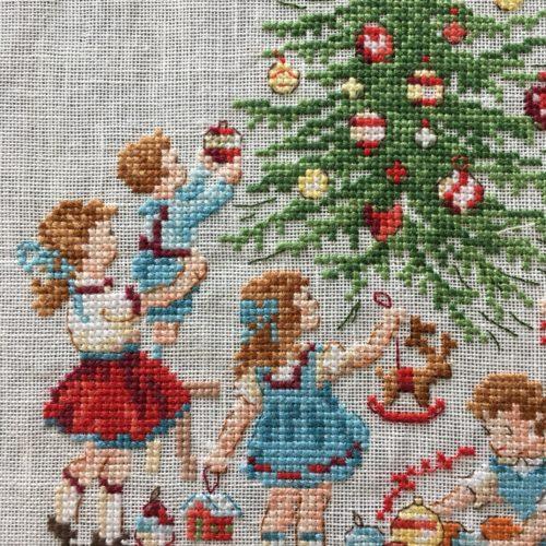 年が明けましたけど、ヴェロニク・アンジャンジェさんのクリスマスツリー完成。