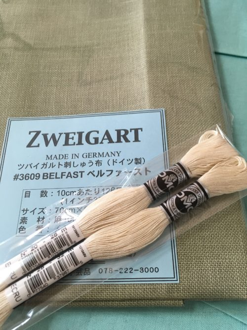ZWEIGART(ツバイガルト)32カウントのリネンを買いました。