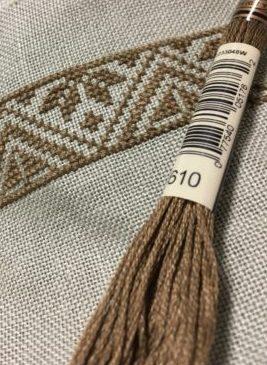 ツバイガルト麻布と合わせた糸は?