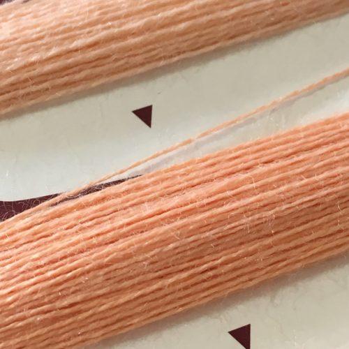 ウールアクリル毛糸にも「みすや針」が使いやすい