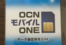 OCNモバイルONEを追加してみました。
