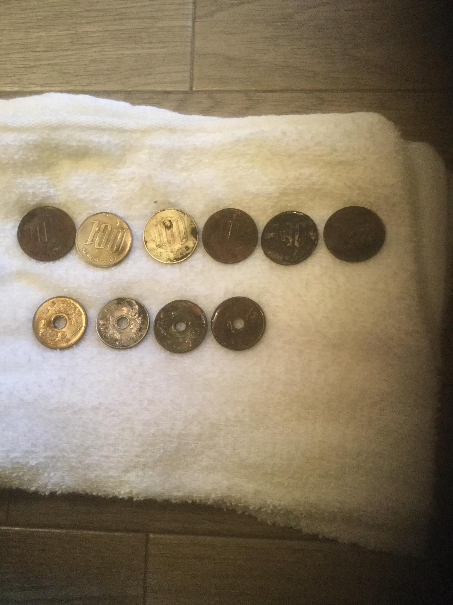 百円玉を綺麗にしたくて頑張りましたが・・・