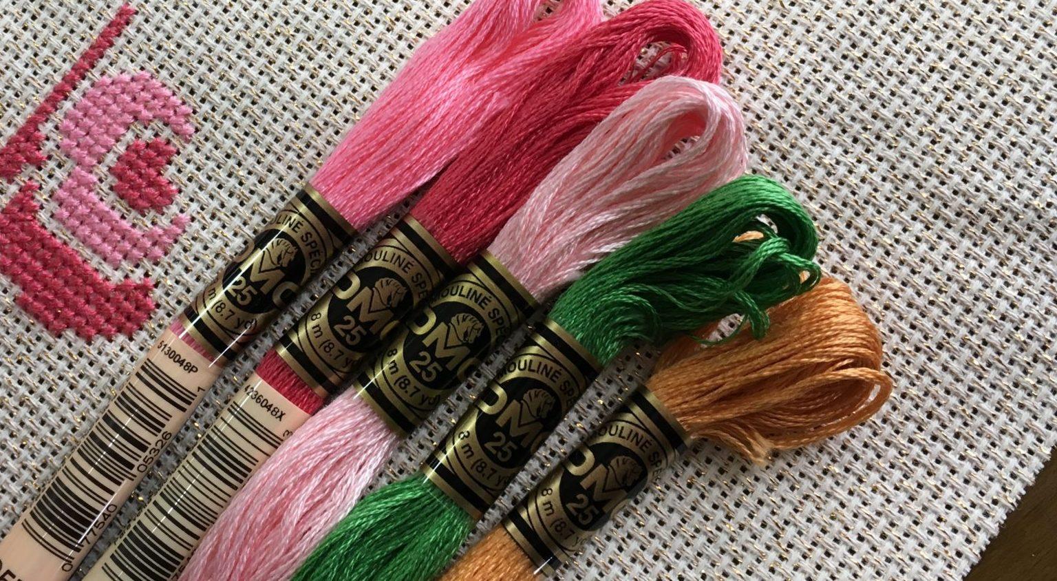 刺繍糸を束から取り出す時の絡まないスマートな方法