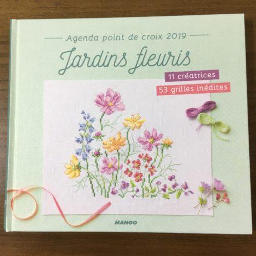 【Jardins fleuris】Agenda point de croix 2019 は、花の図案が53種類
