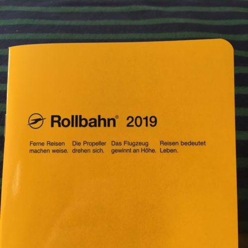 2019年のスケジュール帳もロルバーンです。