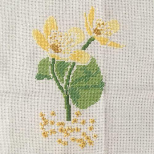 黄色いお花ができました。【Agenda point de croix 2019より3月】