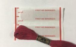絆創膏と針と糸の相性が悪すぎる・・・そして親指シフトも・・・